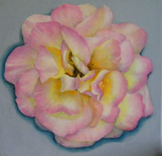 Finessed Contemporary Rose Painting by Lynnette Horn