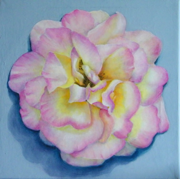 Rose painted by Lynnette Horn
