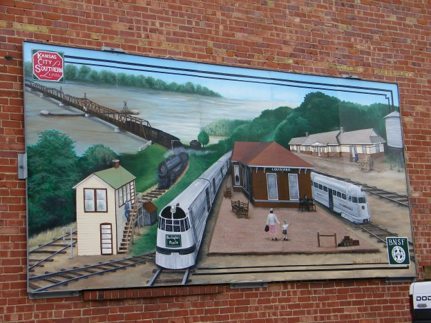 Photo of mural in Louisiana, Missouri